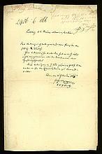 *GRILLPARZER, Franz, 1791-1872. E.Br.m.U. (Wien) 16.II.1866. 1/2 S. gr.-fol