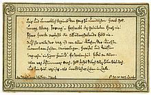 """LAVATER, Johann Caspar, 1741-1801. E. Sinnspruch m.U. """"Lavater"""". 30.IV.1793"""