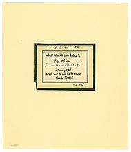"""LAVATER, Johann Caspar, 1741-1801. E. Sinnspruch m.U. """"L"""". 1 S. quer-kl.-8°"""