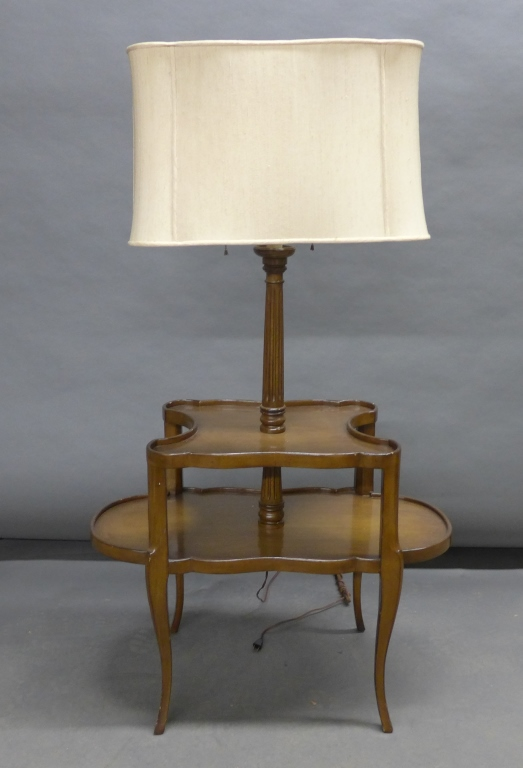 Floor Lamp With Attached End Table