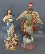Two Santos Angel Statues