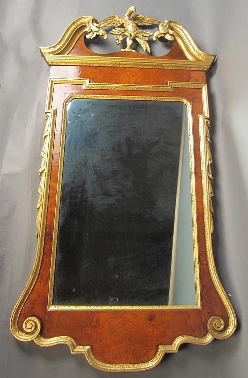 George III Style Parcel-Gilt Wood Mirror