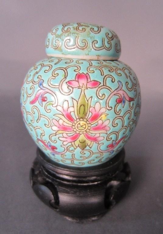 Chinese Enameled Famille Rose Vase