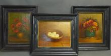 Three Still Life Paintings by W. Van Beek
