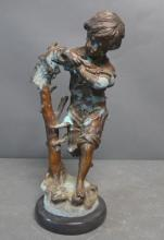 Patinated Bronze Clad Figural Sculpture