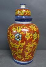 Large Covered Terracotta Jar
