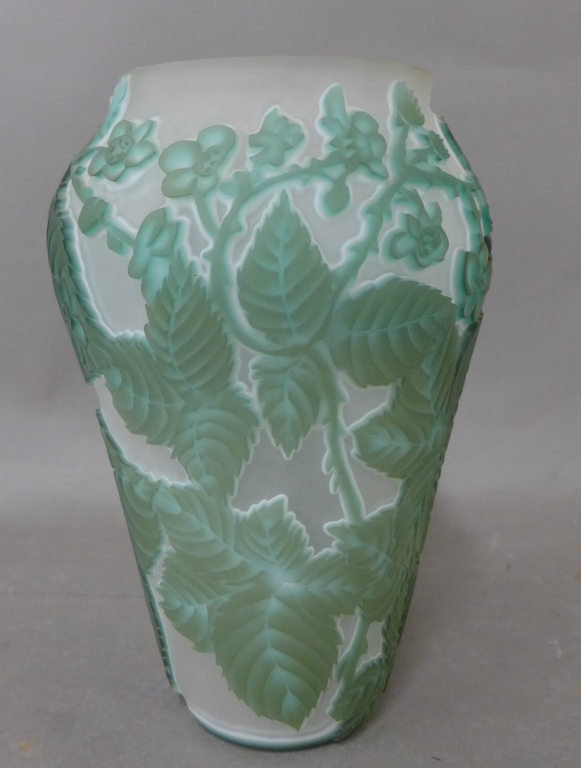20th Century Cameo Glass Vase