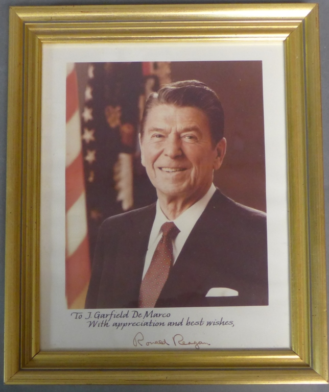 President Ronald Reagan Signed Autographed Photo