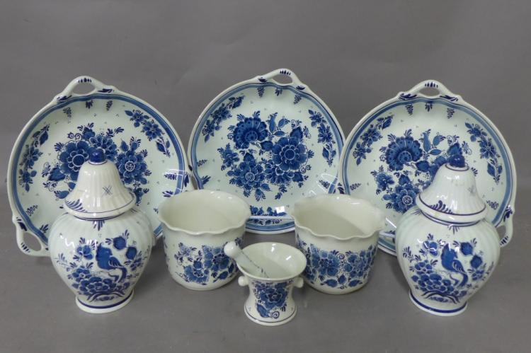 Dutch Delft Blue Porcelain Grouping