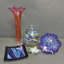 Modern Colored Glass Grouping
