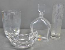 Glass & Crystal  Vases, Decanter and Bowl