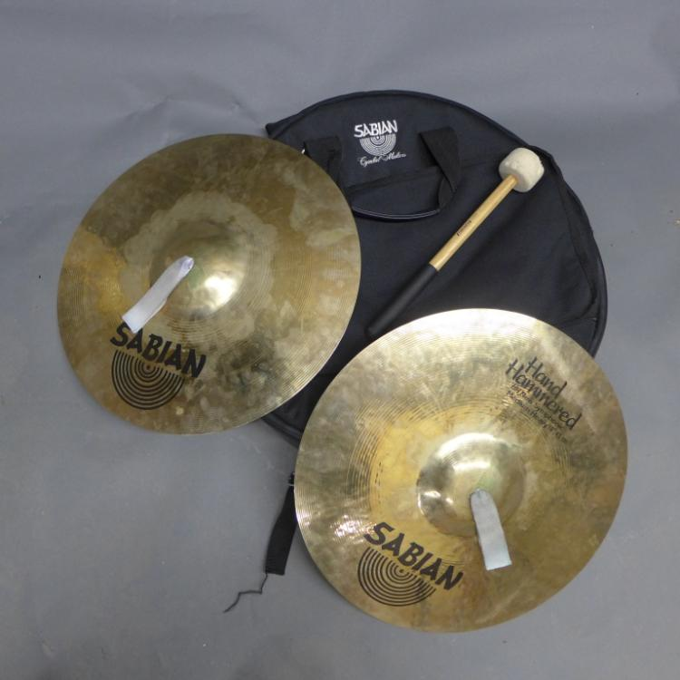Sabian Hand Hammered Cymbals and Travel Case