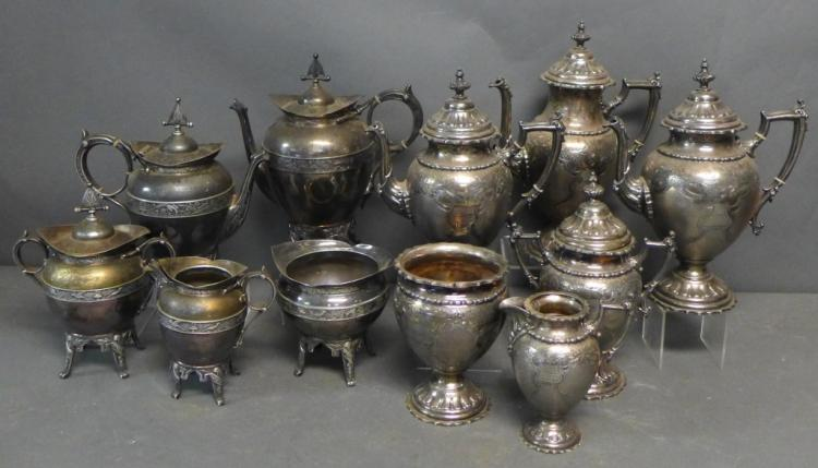 Grouping of Two Patterns of Silver Plate