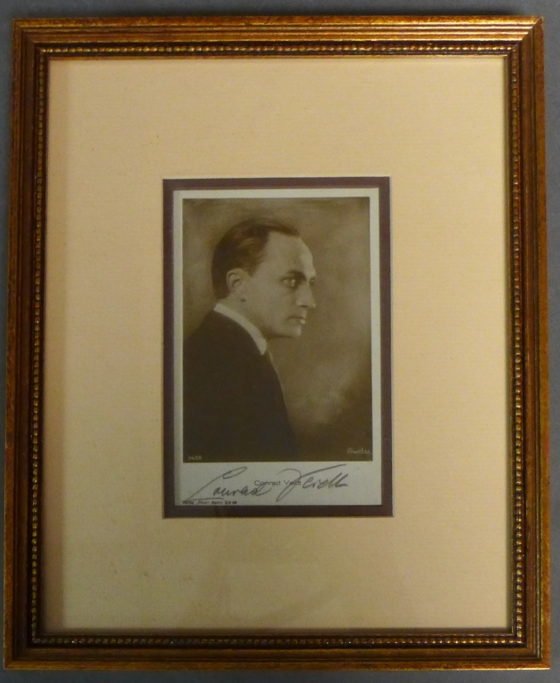 Autographed Photo of Conrad Veidt