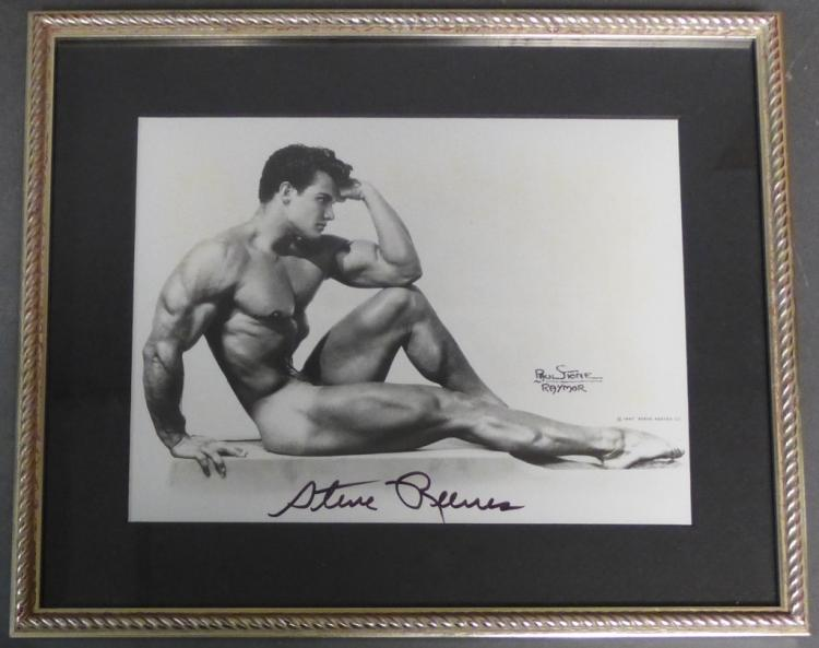 Autographed photo of Steve Reeves