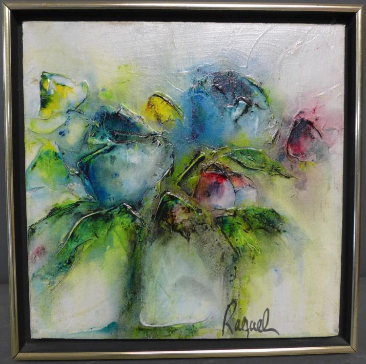 Signed Modern Floral Painting