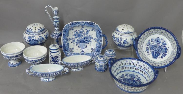 Delft Blauw Pottery Grouping