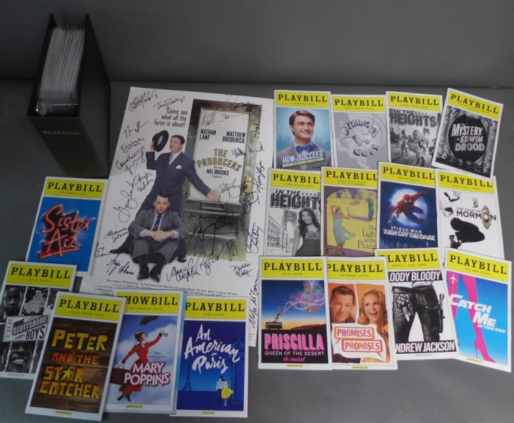 Playbills & The Producers Musical Cast Autographs