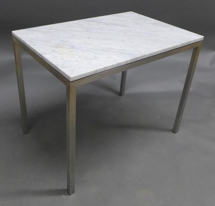 Modern Marble Top End Table
