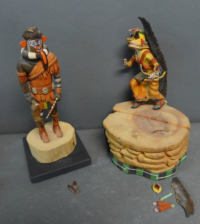 Two Native American Kachina Dolls