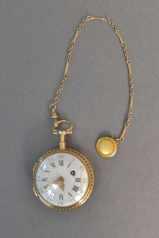 Multi Colored Gold Fusee Pocket Watch