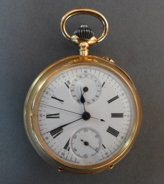 Gold Open Face Pocket Watch
