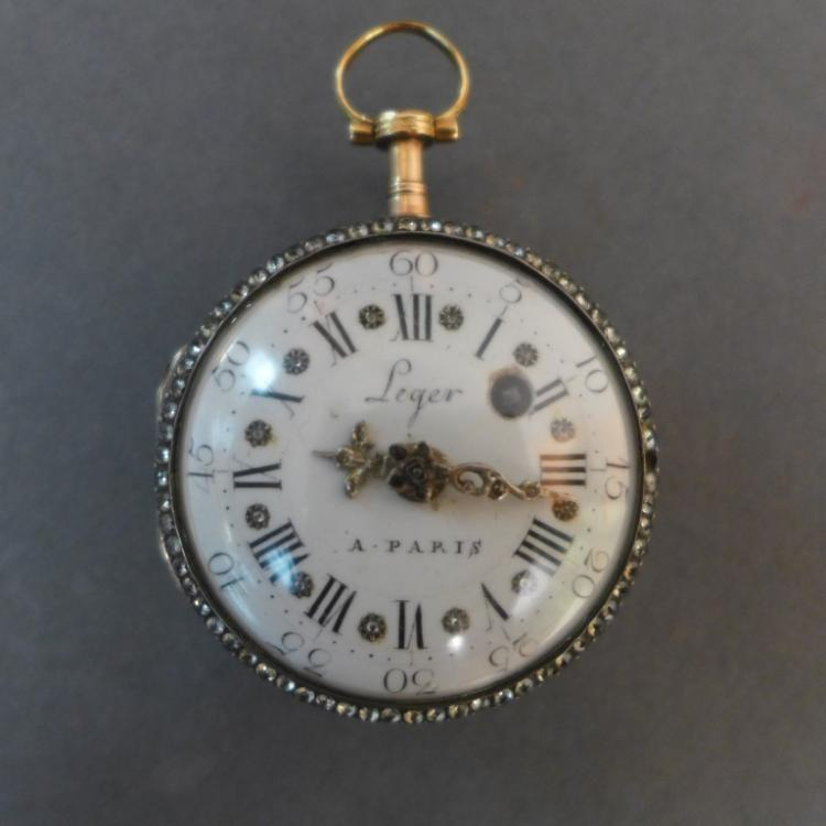 Enamel Portrait Leger à Paris Pocket Watch