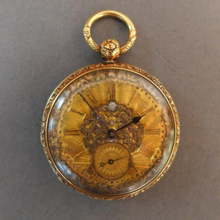 Savoye & Son Gold Fancy Pocket Watch