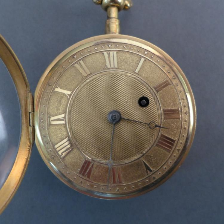 18th Century Open Face 1/4 Repeater Pocket Watch
