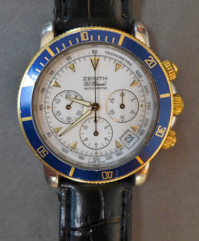 Zenith Rainbow El Primero Chronograph Wrist Watch