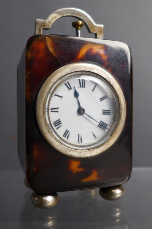 Tortoise Shell Quarter Repeater Desk Clock