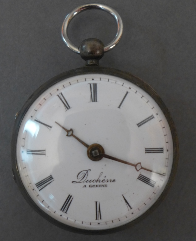 Duchene Silver Pocket Watch