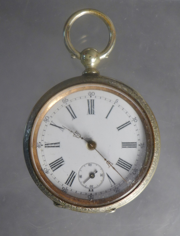 Vintage Open-Face Pocket Watch