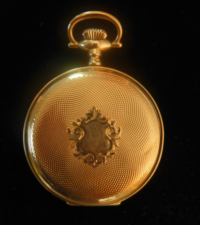 Gold Hunter Case Waltham Pocket Watch