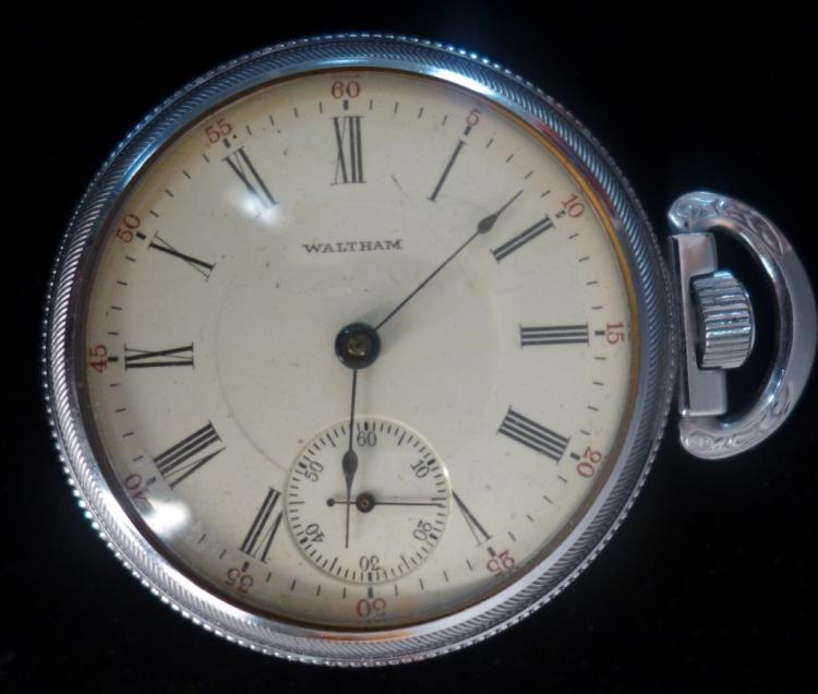 Waltham Side Winder Open-Face Pocket Watch