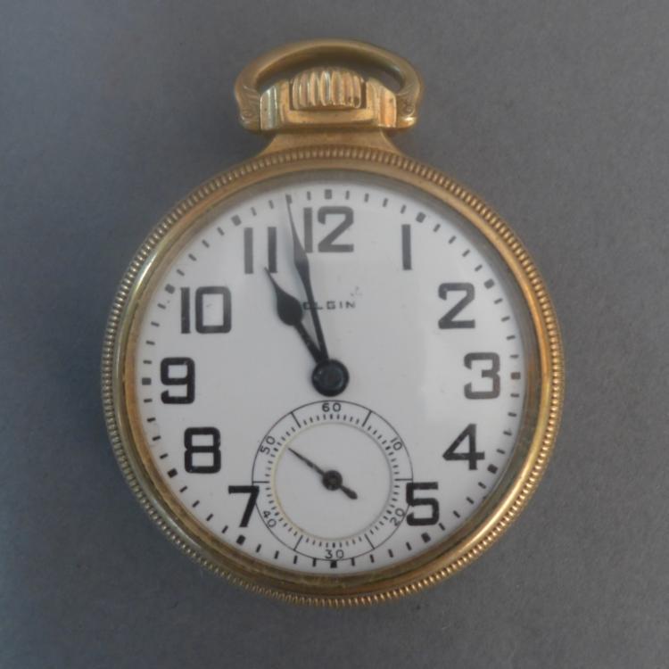 Gold Open Face Elgin Pocket Watch