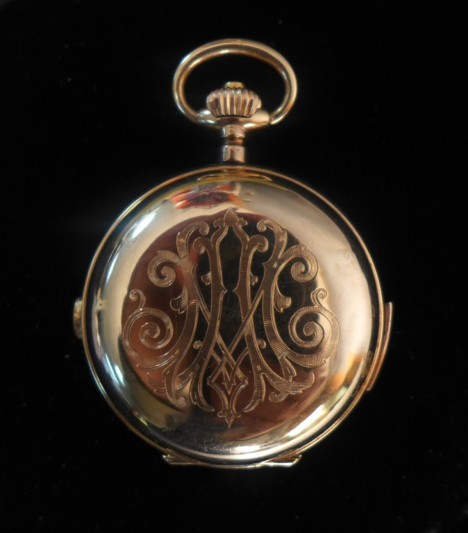 Double Plateau Spiral Breguet 1/4 Repeater Pocket Watch 14k