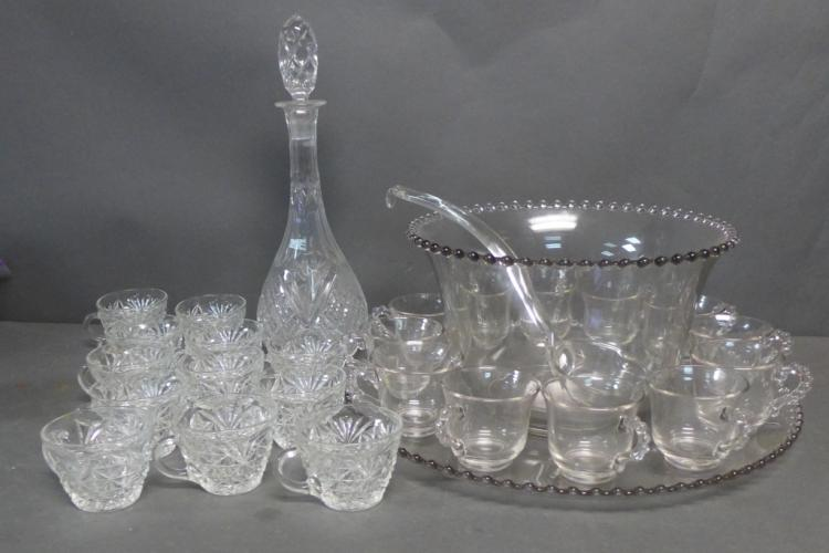Glass Bar Ware Grouping