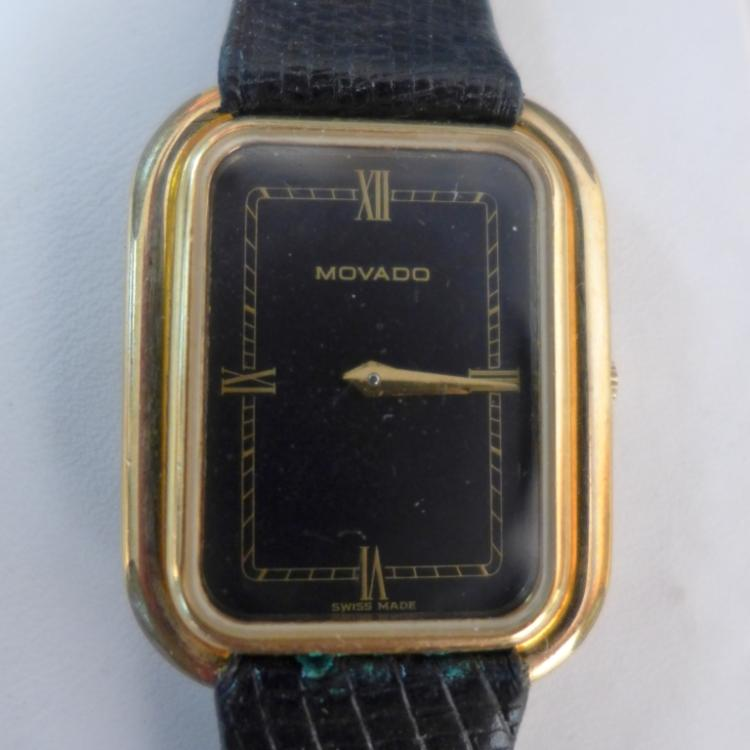 Movado Rectangular Wrist Watch