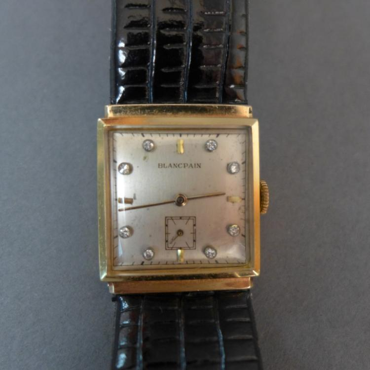 Gentleman's Blancpain Gold & Diamond Wrist Watch