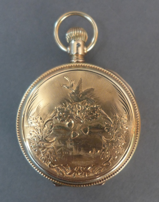 Antique Illinois Gold Hunter Case Pocket Watch