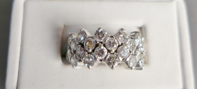 White Gold & Diamond Cocktail Ring