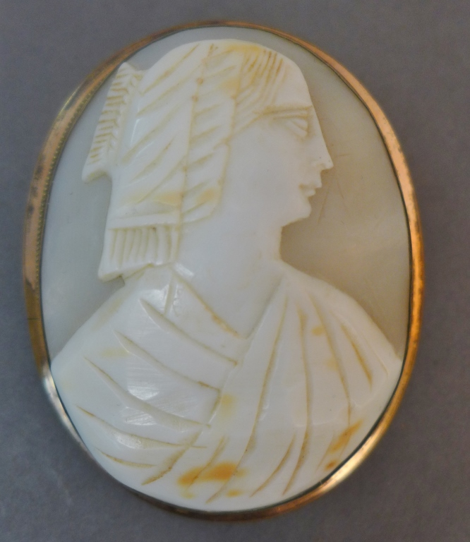 Cameo & Gold Brooch