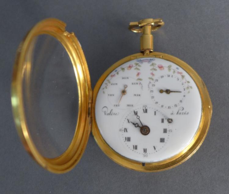 Valire Paris Triple Dial Pocket Watch