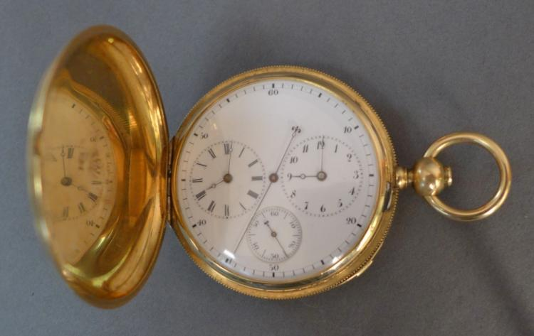 Dussault, Paris Demi-Chronometer Pocket Watch