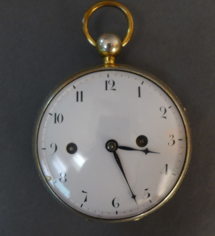French Hour Repeater Open Face Pocket Watch