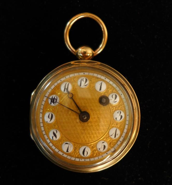 Petite Breguet Open Face Gold Pocket Watch
