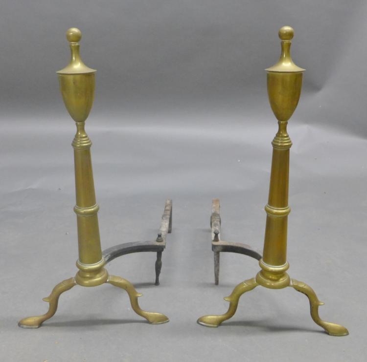 Set of Brass Andirons