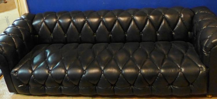 Black Vintage Tufted Couch