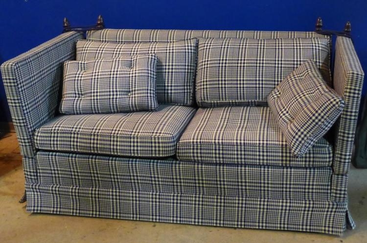 Vintage Plaid Knole Sofa
